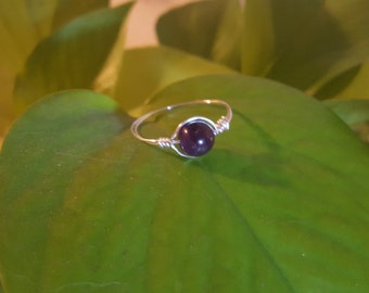Amethyst Wire Wrapped Ring