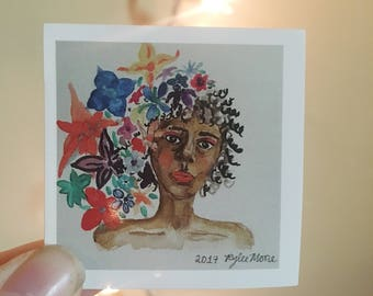 FLOWER GODDESS STICKER