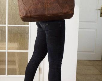 Leather tote, Leather tote bag, Leather tote bag women, Leather crossbody bag, Leather Bag woman, Leather Messenger bag, Brown Bag, Nora XL
