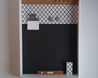 Black & White Chalk Board, Messge Center, Magnetic, Cork, Magnets