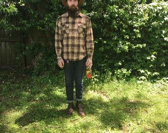 Vintage Plaid Mens Shirt