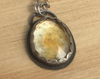 Sterling Silver Pendant with Citrine