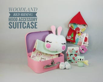 Studio Doll Accessory Set - Woodland Red Riding Hood Girl, Made to order