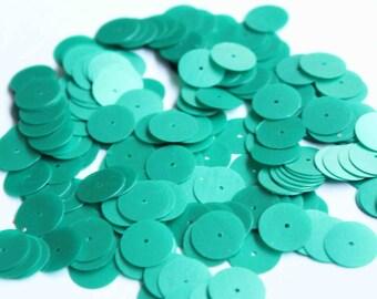 75 Matte Green Color/ Round sequins/KBRS140