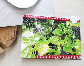 Card in the cabbage • creative • Scrapbooking • simple card stationery and personal photograph