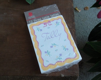 Vintage 2 1/2 X 3 1/2 inch Tally cards