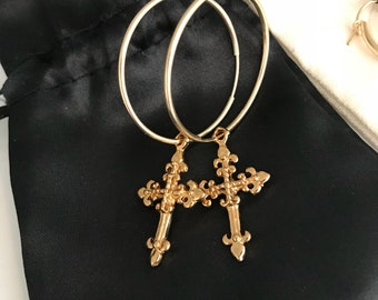 Go Higher Cross Earrings