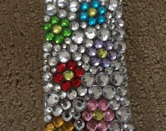 Customizable Rhinestone Floral iPhone Case