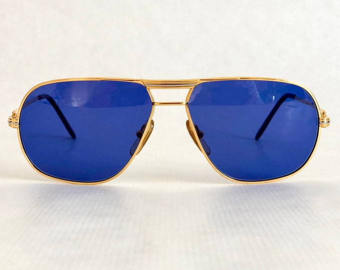 Cartier Tank First Edition 1988 Vintage Sunglasses 18k Gold Plated including Leather Softcase & Booklets