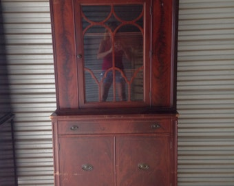 Vintage Single Door China Hutch- customize it!