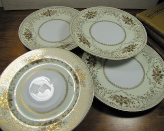 Vintage Empress China - Coronation - Salad Plates - Set of Four (4) - Made in Japan