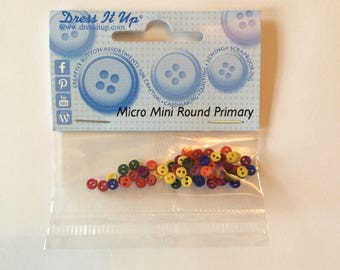 Teeny Tiny Buttons - Bold Multi