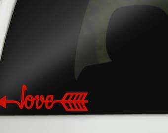 Love Arrow Vinyl Decals, Love, Arrows, Decal, Car Windows, Laptops, Tablets, Water Bottles, Tumblers
