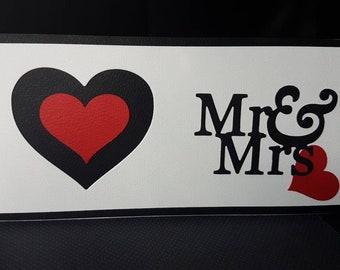 Mr & Mrs - A Wedding Card