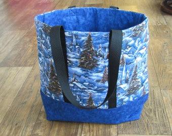 Christmas/winter theme tote, handmade