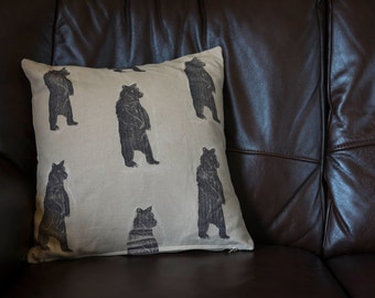 Bear Print Cushion Cover.