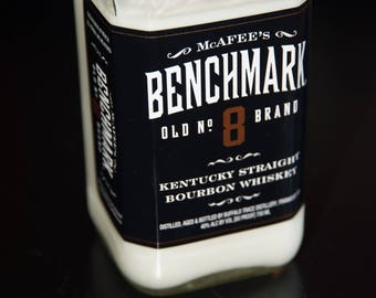 McAfee's Benchmark Old No 8 Kentucky Bourbon Whiskey Candle, Gift for Dad, Birthday Gift