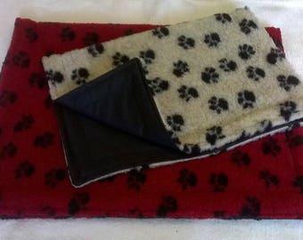 waterproof back sherpa fleece dog blanket / mat