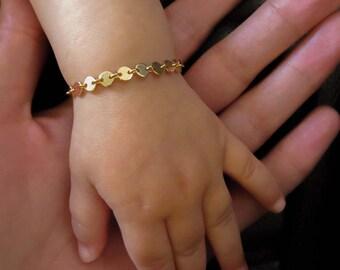 Gold baby bracelet Etsy