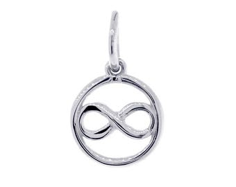 Mini Infinity and Circle Charm in Sterling Silver