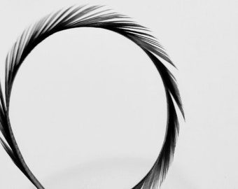 PURE BLACK CURLED Biot Sword Feathers, Select Your Quantity