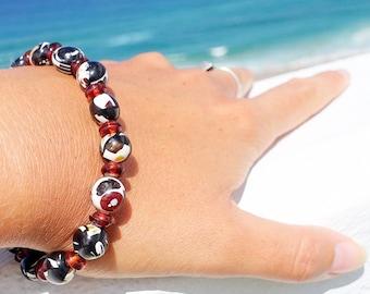 Amber Bracelet, Baltic Amber Mosaic Beaded Bracelet, Stretchable Bracelet, Amber Mosaic Jewelry, Fashionable Gift Bracelet