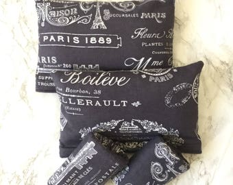 Paris French Theme Crutch Pad Cover Complete Set for Armrest and Handles