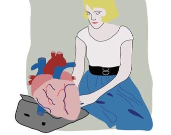 Sylvia Plath Digital Illustration