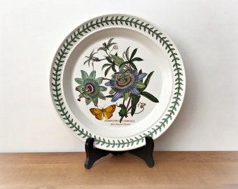 Vintage Portmeirion Botanic Garden Dinner Plate Blue Passion Flower Passiflora Caerulea
