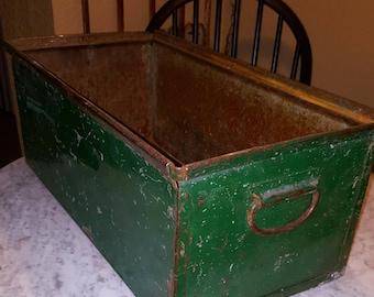 industrial bin industrial drawer vintage drawer vintage large bin vintage drawer large green