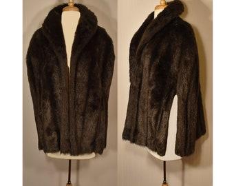 Faux Fur Cape, Fur Cape, Women's Fur, Faux Fur, Vintage Faux Fur Cape, Ladies Cape, Shrug, Stole, Glamour, Theater, Fashion, Costume