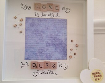 Every love story is beautiful but ours is my favourite / Valentines frame/Picture Frame/Valentine's Gift/Personalised Frame / Wedding Gift