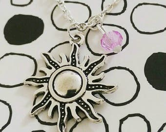 Tangled Rapunzel Sun Necklace At Last I See The Light Disney Necklace