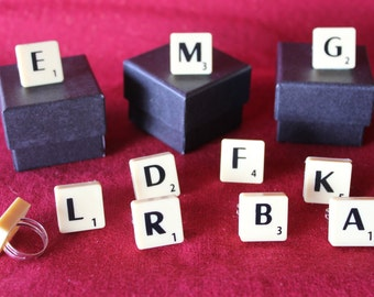 Scrabble Tile Ring, You Choose The Letter
