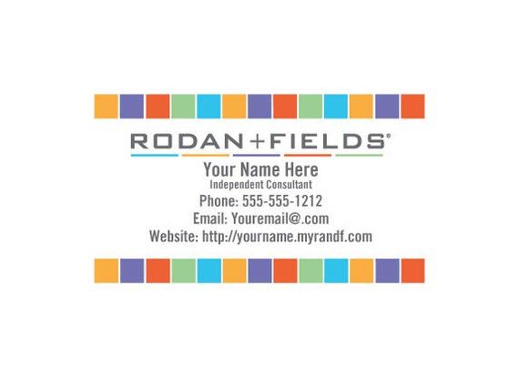 Rodan fields full color business cards colourmoves