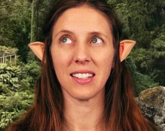 Small Latex Light skin tone Elven ears ,Shannara chronicles elven ears,LOTR,LARP Costume pointy ears ,Cosplay Anime pointy ears,Elven ranger