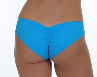 Turquoise Scrunched Bottom