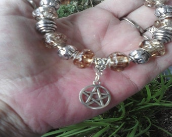 Pagan Wiccan, God of Storms, Euro style bracelet