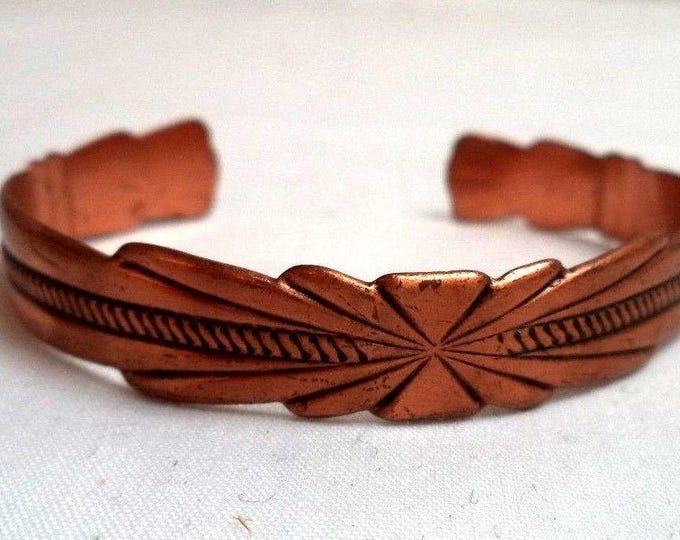 Featured listing image: Vintage Solid Copper Cuff Bracelet - Size 6