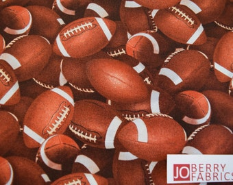Football Fabric, Footballs from the Sports Collection by Elizabeth Studio, Quilt or Craft Fabric, Fabric by the Yard.