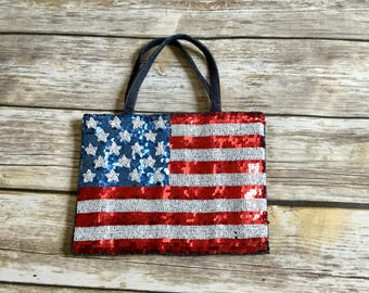 Vintage Inspired Swee Lo American Flag Purse