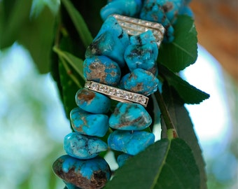 Contemporary Native American Turquoise Bracelet