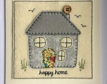 Happy Home Card - Grey