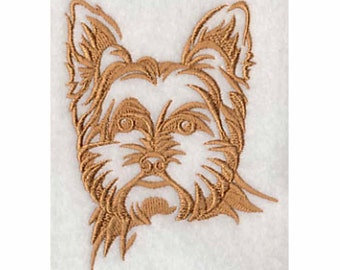 Yorkshire Terrier Tea Towel | Embroidered Kitchen Towel | Embroidered Towel | Personalized Kitchen Towel with Dogs | Yorkie Gifts