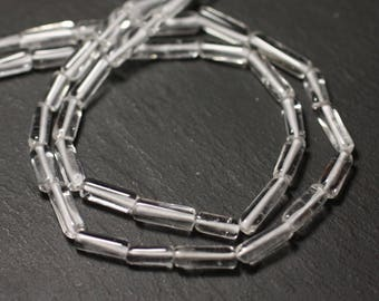 10pc - stone beads - Crystal Quartz 5-14mm - 8741140012271 Tubes