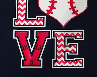 Love baseball shirt