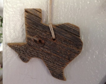 Set of 3: Texas Barnwood Ornaments/Magnets