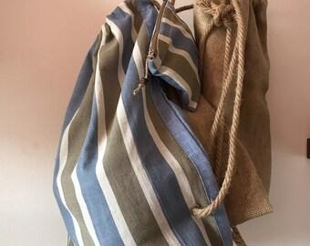 Linen bag + make up bag