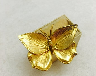 Vintage Creed 12K Gold Filled Butterfly Brooch
