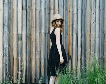 Linen Dress - Black Linen Dress - Women Dress - Sleeveless Linen Dress - Handmade by OFFON
